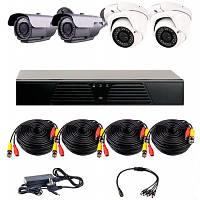 AHD комплект наблюдения на 4 уличные камеры CoVi Security HVK-3005 AHD PRO KIT, 1.3 Мп