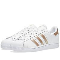 Оригинальные  кроссовки Adidas Women's Superstar W White & Copper