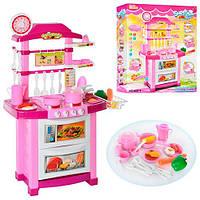 Игровая кухня Bambi 889-4, светозвуковые эффекты, посуда, продукты, пластик, от 3 лет, 87х58х34см