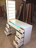 Професійний манікюрний стіл з підсвічуванням і УФ лампою в ящику V129, фото 3
