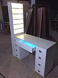 Професійний манікюрний стіл з підсвічуванням і УФ лампою в ящику V129, фото 5