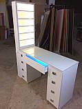 Професійний манікюрний стіл з підсвічуванням і УФ лампою в ящику V129, фото 6