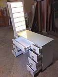 Професійний манікюрний стіл з підсвічуванням і УФ лампою в ящику V129, фото 7
