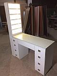 Професійний манікюрний стіл з підсвічуванням і УФ лампою в ящику V129, фото 2