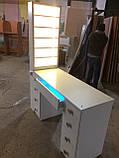 Професійний манікюрний стіл з підсвічуванням і УФ лампою в ящику V129, фото 8