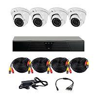 AHD комплект наблюдения на 4 уличные камеры CoVi Security HVK-3006 AHD PRO KIT, 1.3 Мп