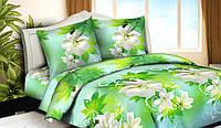 Полуторный набор постельный (рисунок Лист зеленый)