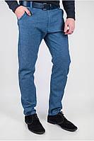 Синие брюки из хлопка