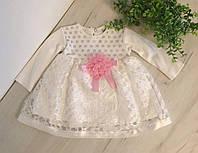Детское нарядное платье для новорожденных