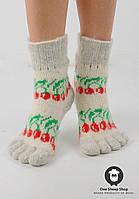 Носочки с пальцами, шерстяные носки с пальцами