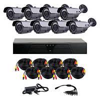 AHD комплект наблюдения на 8 уличных камер CoVi Security HVK-4004 AHD PRO KIT, 1.3 Мп