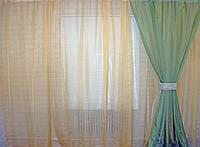 Комплект гардина, декоративныеая шторы, и подхват. Код 003дк