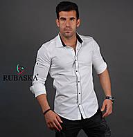 Мужская рубашка белого цвета. Турецкого производства