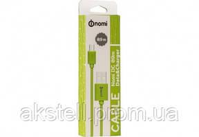 Кабель Nomi DC 09m USB micro 0,9м Green