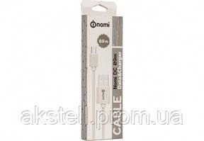 Кабель Nomi DC 09m USB micro 0,9м White