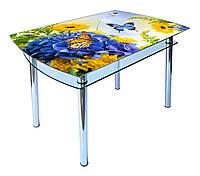 Стол стеклянный КС-4 (фотопечать) 900х600х750