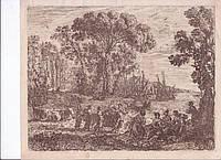 Офорт «Похищение Европы» 1634 год Клод Лоррен