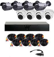 AHD комплект наблюдения на 8 уличных камер CoVi Security HVK-4005 AHD PRO KIT, 1.3 Мп