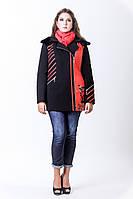 Пальто зимнее короткое с капюшоном 1-096 Sergio Cotti