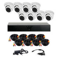AHD комплект наблюдения на 8 уличных камер CoVi Security HVK-4006 AHD PRO KIT, 1.3 Мп