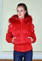 Куртка женская с натуральным мехом 50-08 Sergio Cotti