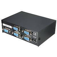 VGA сплиттер , разветвитель на 4 порта 150 МГц 1 вход-4 выходов