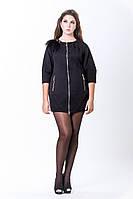 Платье - пальто черное  2-285 Sergio Cott