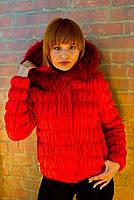 Куртка женская зимняя с натуральным мехом 50-07  Sergio Cotti