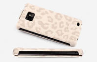 Nuoku LEO stylish leather case for Samsung i9100/i9105 Galaxy S II, white