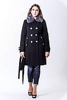 Пальто женское зима с натуральным мехом 10-24 Sergio Cotti
