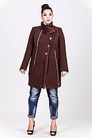 Женское  зимнее пальто с натуральным мехом 1-072 Sergio Cotti