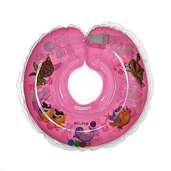 Круг для купания детей Дельфин розовый