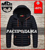 Модная куртка Moc 48, чёрный-оранжевый