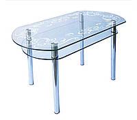 Стол стеклянный КС-5 (пескоструй)  Антоник
