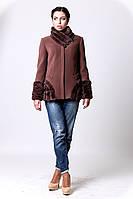 Женское короткое пальто зима + мех 1-029/9 Sergio Cotti