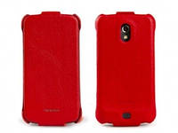 Nuoku ROYAL luxury leather case for Samsung i9250 Galaxy Nexus, red
