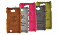 Nuoku LEO stylish leather cover for Samsung i9103 Galaxy R, brown