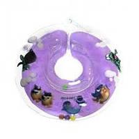 Круг для купания детей Дельфин фиолетовый