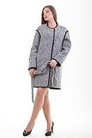 Женское твидовое пальто весна-осень 2-408 Sergio Cotti