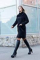Пальто женское зима с натуральным мехом овчина 1-041/9 Sergio Cotti