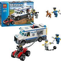 Конструктор аналог Лего Urban 10418: 3 фигурки, грузовик, квадроцикл, аксессуары, 198 деталей