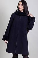 Пальто женское зима с натуральным мехом 1-046 Sergio Cotti