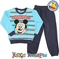 Костюм с начёсом спортивного типа Микки Маус для мальчика от 5 до 7 лет (4929)