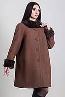 Пальто женское зима с натуральным мехом 1-056 Sergio Cotti