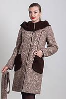 Пальто утепленное осень - весна - зима 2-410Ш Sergio Cotti