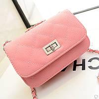 Сумка-клатч женская Chanel Multicolor pink (розовый)