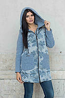 Женский утепленный плащ-пальто  4-017 Sergio Cotti
