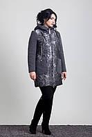 Женский утепленный плащ-пальто  4-017Sergio Cotti