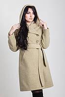 Женское демисезонное пальто с капюшоном  2-498L Sergio Cotti