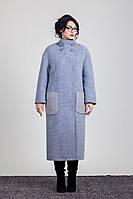 Женское демисезонное удлиненное пальто 2-456L Sergio Cotti